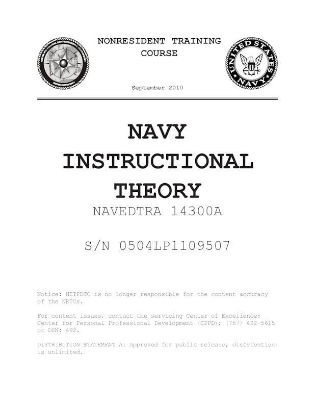 NAVY INSTRUCTIONAL THEORY